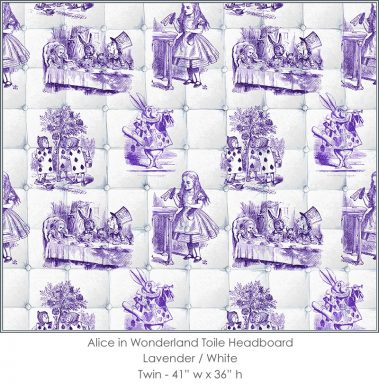 Casart coverings Alice in Wonderland HEADBOARD_Twin_lavender