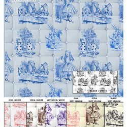 Casart Coverings Alice in Wonderland Headboard sample