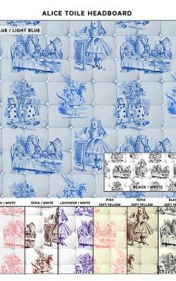 Casart coverings_Alice in Wonderland Headboard_sample