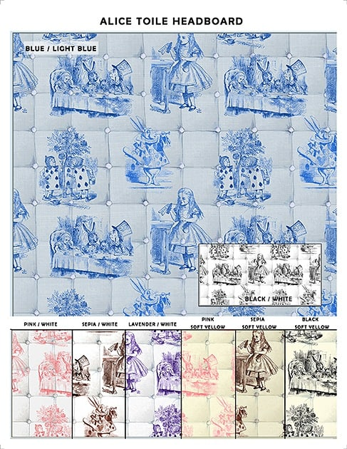 Casart coverings_Alice in Wonderland Headboard_sample