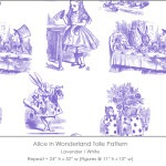 Casart coverings Alice in Wonderland Toile_1 lavender-white