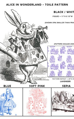 Casart coverings Alice in Wonderland_Toile Sample1