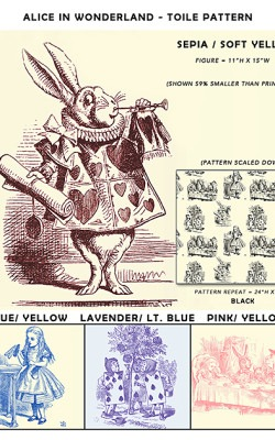 Casart coverings Alice in Wonderland_Toile Sample2