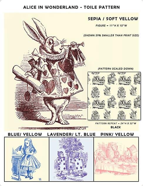 Casart coverings Alice in Wonderland_Toile Sample2