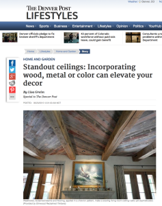 Denver Post – Standout Ceilings