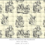 Casart coverings Alice in Wonderland HEADBOARD_Queen_black-yellow