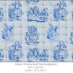Casart coverings Alice in Wonderland HEADBOARD_Queen100_blue-ltblue