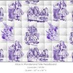 Casart coverings Alice in Wonderland HEADBOARD_Queen_lavender-white