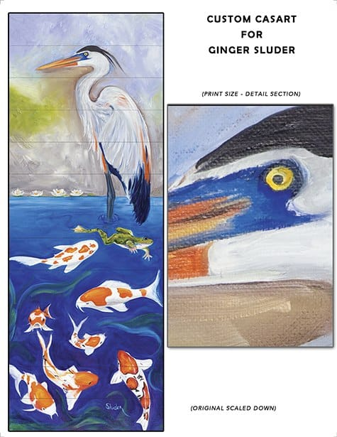 Casart coverings custom sample for customer artwork