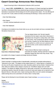 Casart coverings_Alice-in-Wonderland_press release