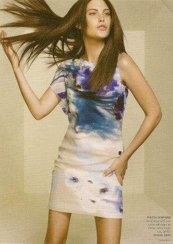 Abstract watercolor dress inspiration for Casart Abstract Watercolor wallcovering