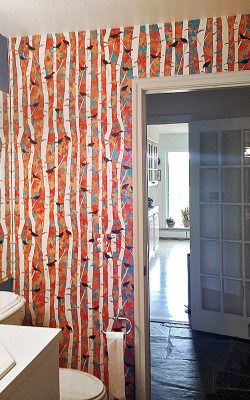 Casart coverings Birds and Birch customer installation