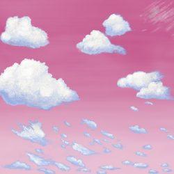 Casart coverings 1_Cumulus Clouds_Sunrise temporary wallpaper