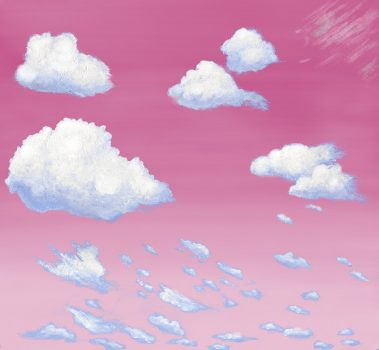 Casart coverings 1_Cumulus Clouds_Sunrise temporary wallpaper