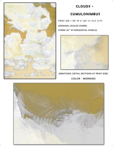 2_Casart coverings Ceiling Cumuonimbus Clouds Morning Sky Sample_temporary wallpaper