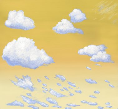 Casart coverings 2_Cumulus Clouds_Morning_temporary wallpaper
