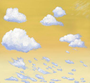 Casart coverings 2_Cumulus Clouds_Morning_temporary wallpaper