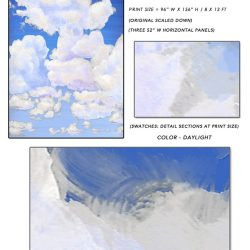 3_Casart coverings Ceiling Cumuloninbus Clouds Daylight Sky Sample_temporary wallpaper