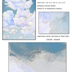 4_Casart coverings Ceiling Cumulonimbus Clouds Ocean Sky Sample_temporary wallpaper