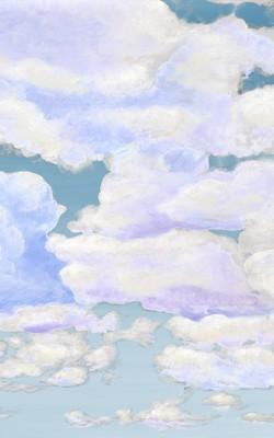 Casart coverings_4_Cumuloninbus Clouds Ocean Sky_temporary wallpaper