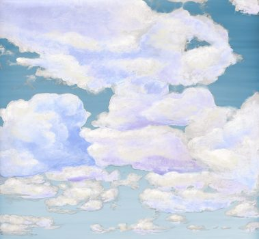 Casart coverings_4_Cumuloninbus Clouds Ocean Sky_temporary wallpaper