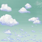 Casart coverings 4_Cumulus Clouds_Ocean Sky temporary wallpaper