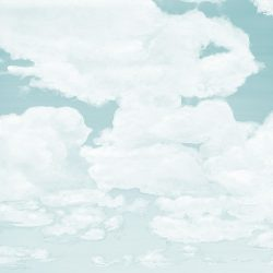 Casart coverings_5_Cumuloninbus Clouds Ocean Soft Sky_temporary wallpaper