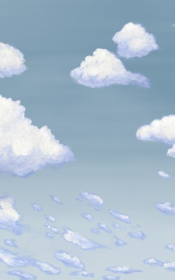 Casart coverings 5_Cumulus Clouds_Cloudy Sky_temporary wallpaper