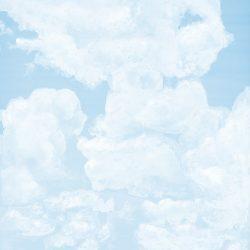 6_Casart coverings_Ceiling Cumulonimbus_Clouds Soft Cyan Sky_temporary wallpaper