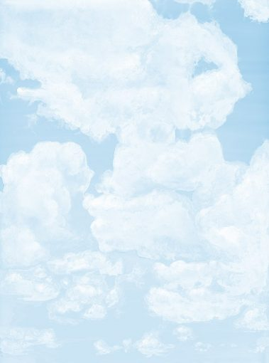 6_Casart coverings_Ceiling Cumulonimbus_Clouds Soft Cyan Sky_temporary wallpaper