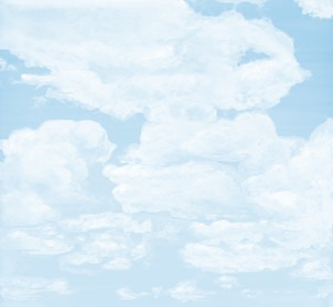 Casart coverings_6_Cumulonimus Clouds Light Cyan Soft Shadows Sky_wallcovering
