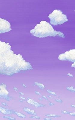 Casart coverings 6_Cumulus Clouds_Dusk temporary wallpaper