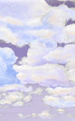 Casart coverings 7_Cumuloninbus Clouds Dusk Sky_temporary wallpaper