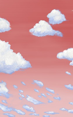Casart coverings 7_Cumulus Clouds_Sunset_temporary wallpaper