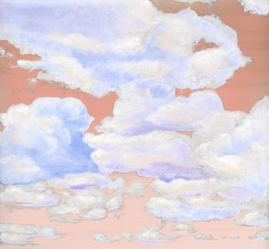 Casart coverings 8_Cumuloninbus Clouds Sunset Sky_temporary wallpaper