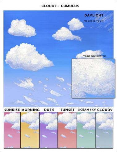 Casart coverings Cumulus Cloud Sample_temporary wallpaper