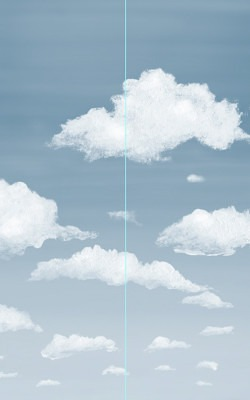 Casart coverings Example of 2 Panel Stratocumulus Installation_temporary wallpaper