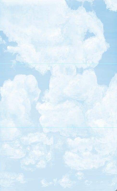 Example_Casart coverings Ceiling Cumulonimbus Cloud 3 Panel Installation 8x13ft_temporary wallpaper