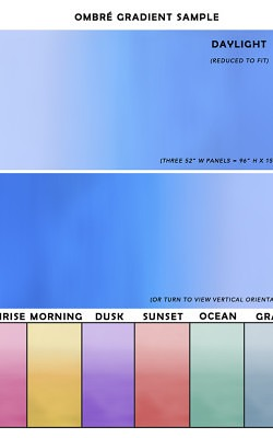 Casart coverings Ombre Gradient Sample _temporary wallpaper