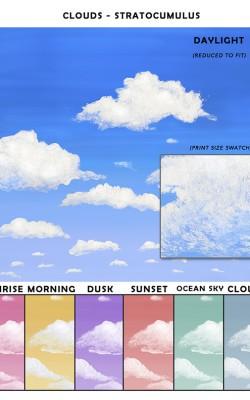 Casart coverings Stratocumulus Cloud Sample_temporary wallpaper