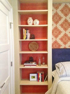 Step 5 peel and stick Casart coverings Orange Faux Linen temporary wallpaper Installation