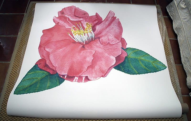 Casart coverings Camellia Print image temporary wallpaper