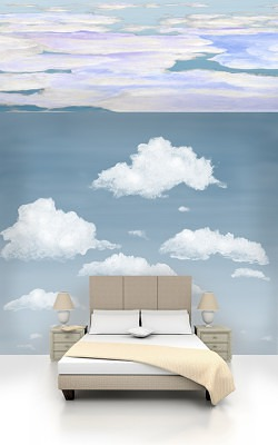 Casart coverings Cloudy Stratocumulus and Ocean Ceiling Cumuloninbus Cloud Room