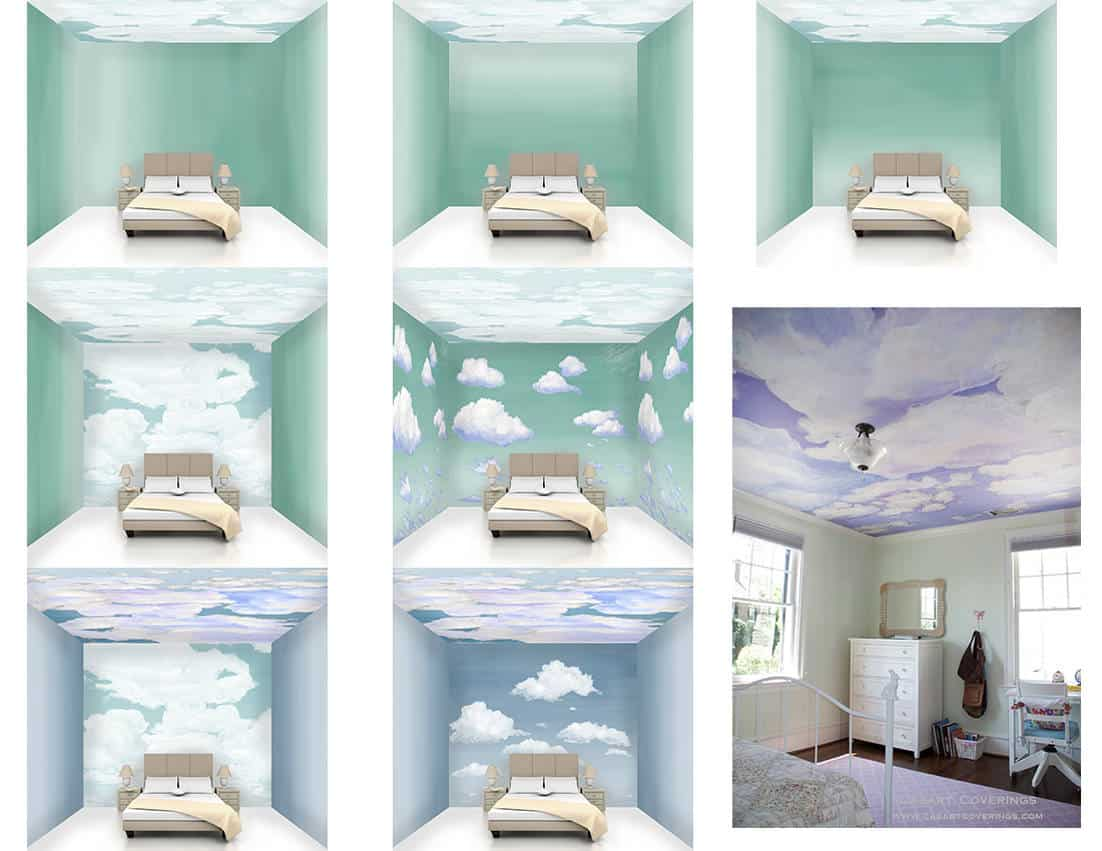 Casart coverings Cloud Room Composite_temporary wallpaper
