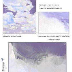 Casart coverings_Cumuloninbus _Wall Cloud Dusk Sample_temporary wallpaper