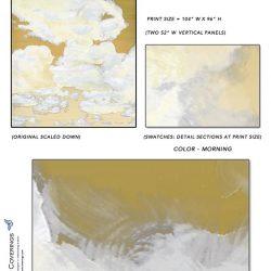 Casart coverings_Cumuloninbus_Wall Cloud Morning Sample_temporary wallpaper
