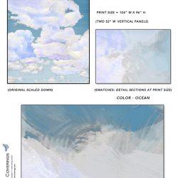 Casart coverings_Cumuloninbus_Wall Cloud Ocean Sample_temporary wallpaper