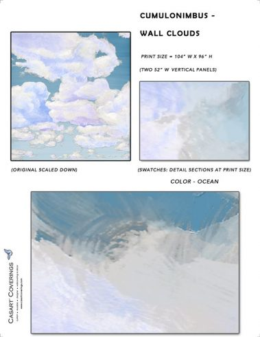 Casart coverings_Cumuloninbus_Wall Cloud Ocean Sample_temporary wallpaper