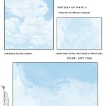 Casart coverings_Cumuloninbus_Wall Cloud Soft Cyan Sample_temporary wallpaper