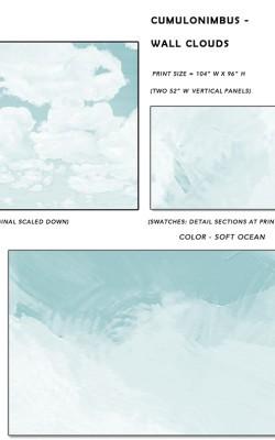 Casart coverings_Cumuloninbus_Wall Cloud Soft Ocean Sample_temporary wallpaper